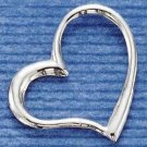 0.925 STERLING SILVER EXTRA LARGE FLOATING HEART CHARM