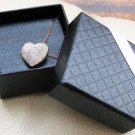 Heart Shape Clear Cubic Zirconia Crystal 18K Gold Over Sterling Silver Pendant