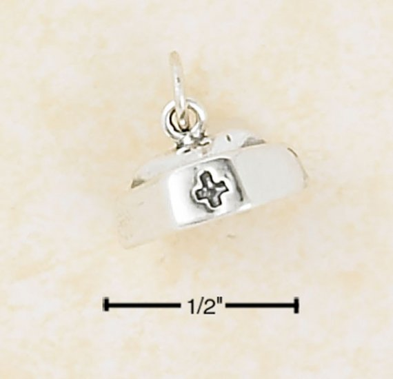 0.925 STERLING SILVER RESPECTFUL 3-D NURSES CAP CHARM-PENDANT