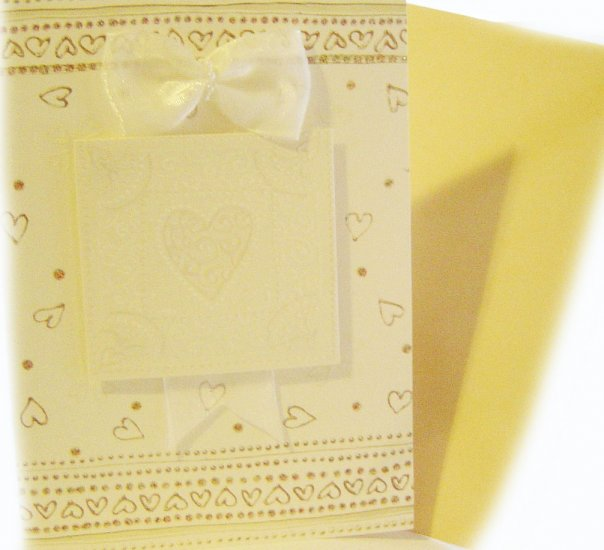 """Handcrafted Greeting Card: """"May Happiness fill your heart always"""""""
