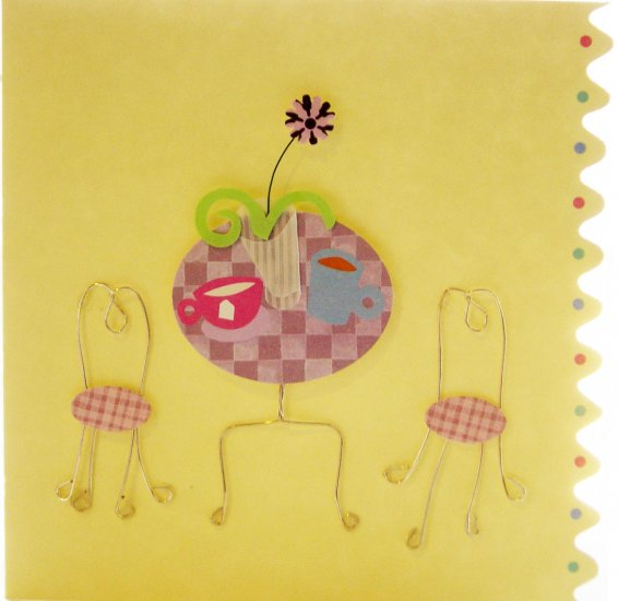 *FREE SHIPPING to US  & CANADA* Handcrafted Greeting Card: BLANK INSIDE - write your own message