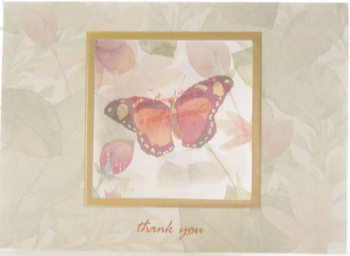 "Handcrafted ""THANK YOU"" Greeting Card: ""Your thoughtfulness is greatly appreciated."""