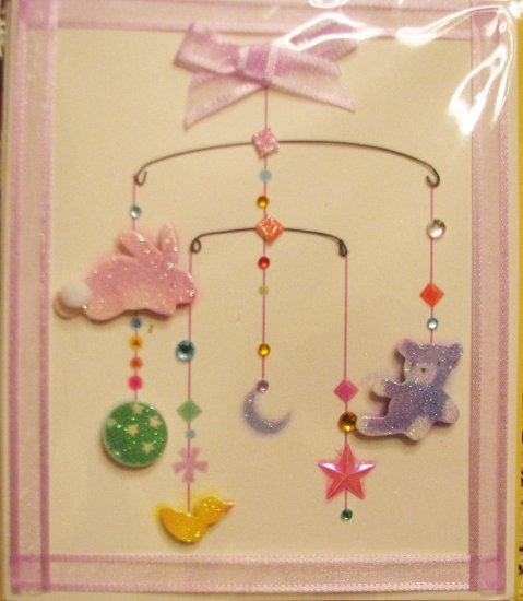 """Handcrafted """"NEW BABY"""" Greeting Card: """"Congratulations on your new baby!"""""""