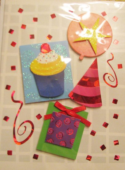 "*FREE SHIPPING to US & CANADA* Handcrafted ""Party"" Design ""Celebration"" Greeting Card"