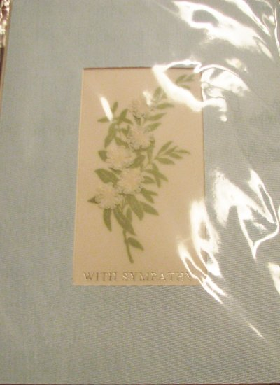 "*FREE SHIPPING to US & CANADA* Handcrafted ""With Sympathy"" Messenger Card"