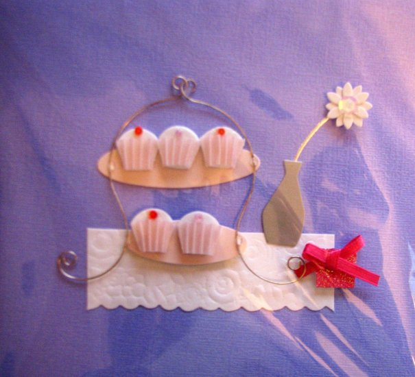 "*FREE SHIPPING to US & CANADA* Handcrafted ""DESSERT-CAFE"" Greeting Card: BLANK INSIDE"