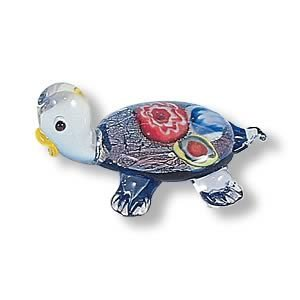 Mini Handcrafted Art Glass Decoration - Turtle Glass Figurine