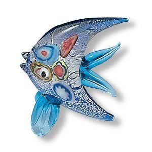 Mini Handcrafted Art Glass Decoration - Saltwater Fish Glass Figurine