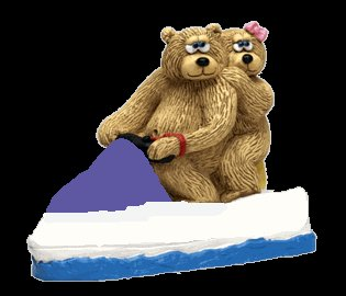 Collectible Hand-Painted Love Boat Teddy Bears - Figurine