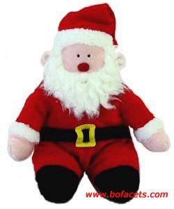 All year long ... Soft Plush Toy - HAPPY SANTA PLUSH