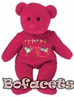 Soft Plush Toy - HAPPY BIRTHDAY TEDDY BEAR PLUSH