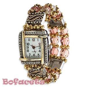 Fashion Design Pattern -  Women's Size Beaded Gemstone Watch