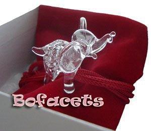 Mini Handcrafted Crystal Glass Decoration - Elephant  Crystal Glass Figurine