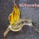 Small-Medium Blow Glass Ornament - Hummingbird Figurine