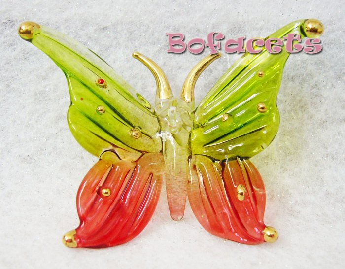 Small-Medium Blow Glass Ornament - Butterfly Figurine