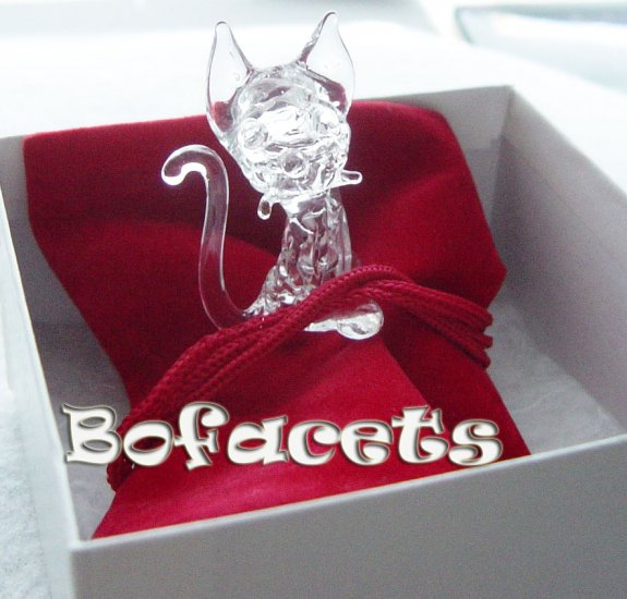 Mini Handcrafted Crystal Glass Decoration - Kitten Crystal Glass Figurine