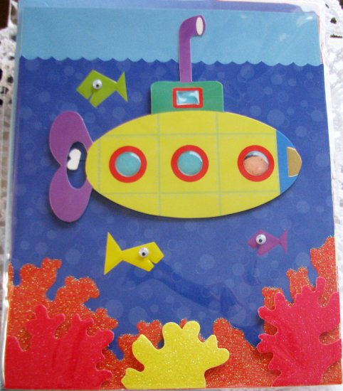 """Looks like birthday fun on the horizon!"" Handcrafted ""Birthday"" Greeting Card"