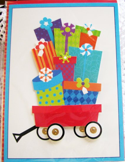 """""""Many Happy Surprises"""" Handcrafted """"Birthday"""" Greeting Card"""