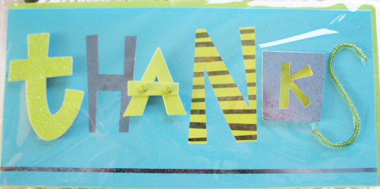 "*FREE SHIPPING to US & CANADA* ""THANKS"" Handcrafted Greeting Card: BLANK INSIDE"