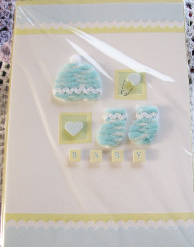 """Congratulations on your new baby!"" Handcrafted Greeting Card"