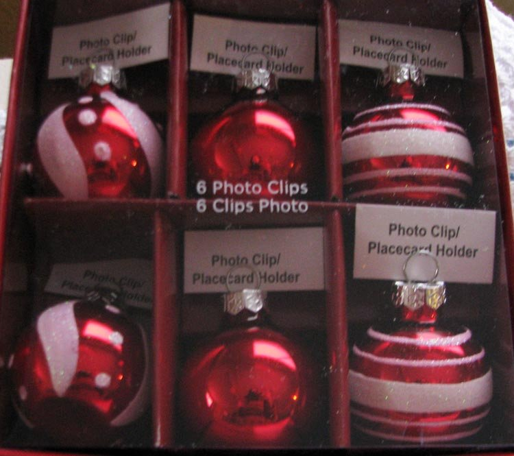 "All year long ... A Set of 6-Piece Let's Celebrate ""Photo Clip/ Placecard Holder Decorations"""