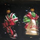 "Year 2010 ""Treasured Glass Ornaments"" 2-Piece Celebrate It Christmas Decorations"