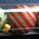 """A Set of 8-Piece Glittery Gold-Strips Colorful """"Celebrate It Christmas"""" Decorations"""
