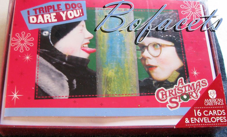 "AMERICAN GREETINGS 16 Cards & Envelopes ""A Christmas Story"""