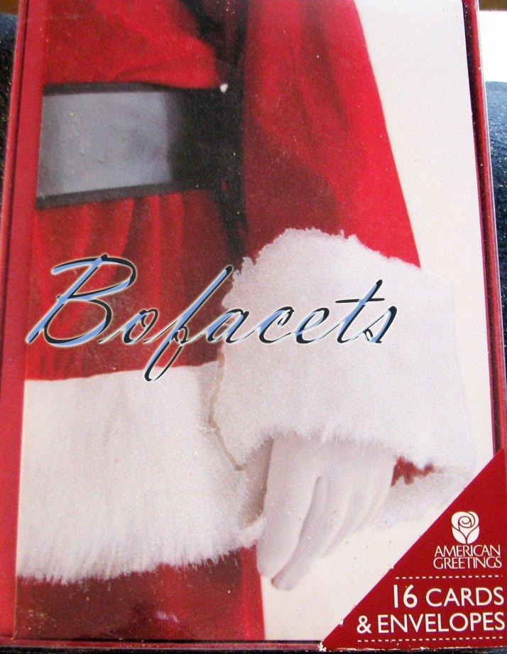 "AMERICAN GREETINGS 16 Cards & Envelopes ""Santa Claus"""