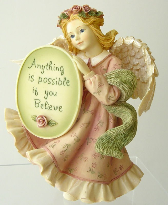 ARTISAN FLAIR - Angels Among Us - Messenger Angel Believe Figurine