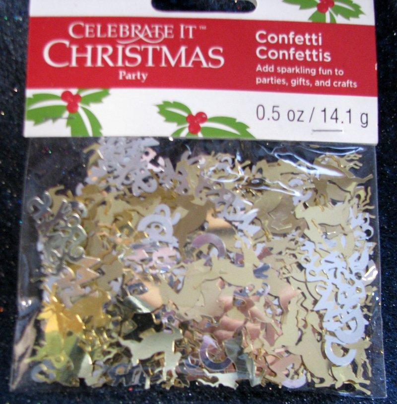 DECOR Celebrate It Christmas Party SILVERY CHRISTMAS CONFETTI