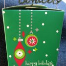 Set of 2 GIFT GIVING Happy Holidays Take-Out Paper Boxes