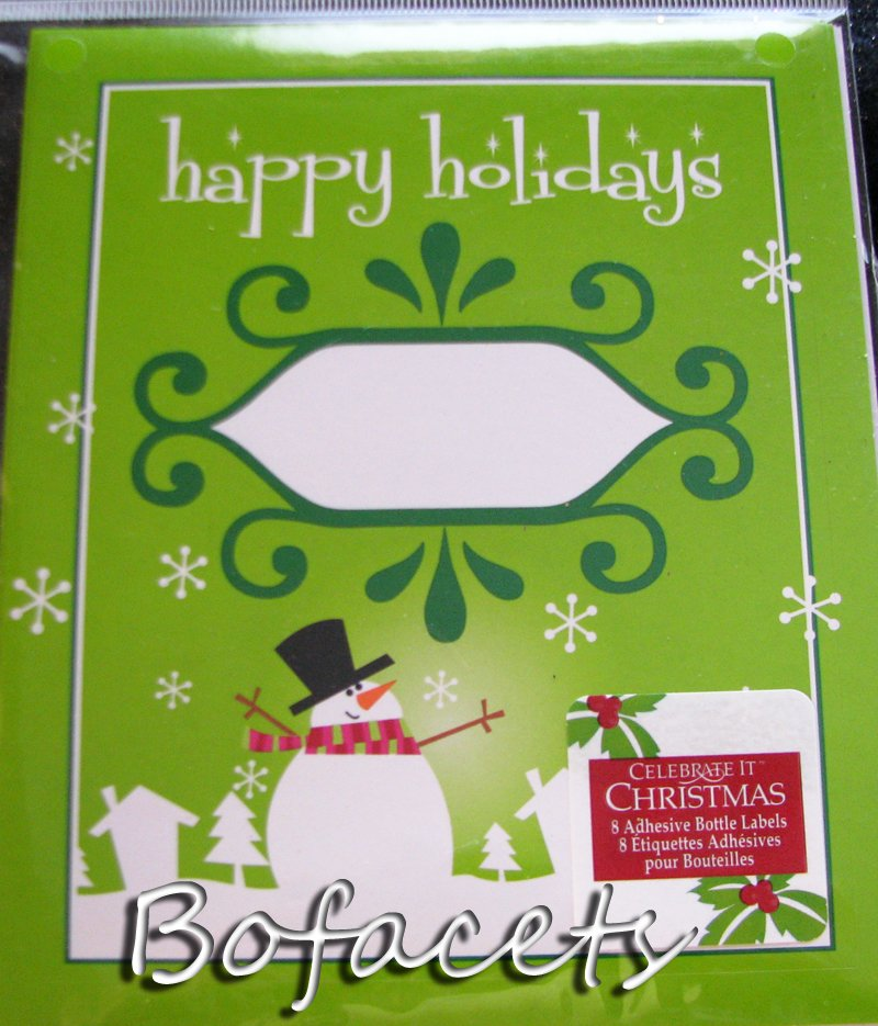 8 Pieces of  Holidays Bottle Labels