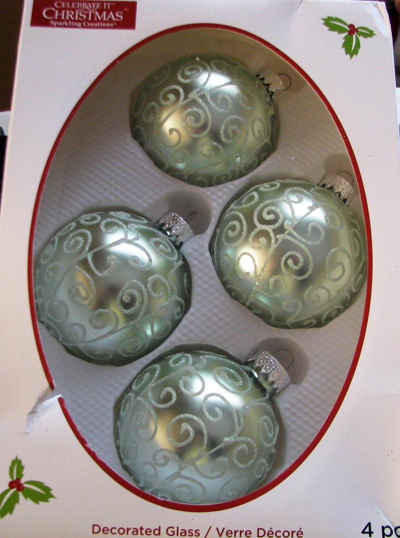 All year long ... Sparkling Creations A Set of 4-Piece Celebrate It Christmas Decorations