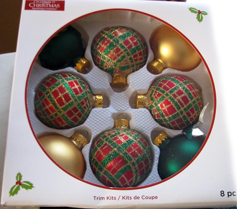All year long ... Sparkling Creations A Set of 8-Piece TRIM KITS Celebrate It Christmas Decorations