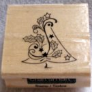 "Clearance New Wood Mounted ""Patterns for Season's Greetings"" Rubber Stamp"