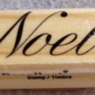 "Clearance New Wood Mounted ""Noel"" Rubber Stamp"