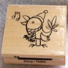 "Clearance New Wood Mounted ""Singing Bird"" Rubber Stamp"