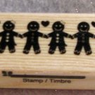 "Clearance New Wood Mounted ""Friendships"" Rubber Stamp"