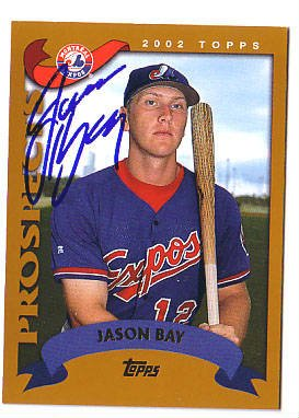 Jason Bay Authentic Autographed Card - Great Autograph