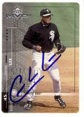 Carlos Lee Authentic Autographed Card - Great Autograph