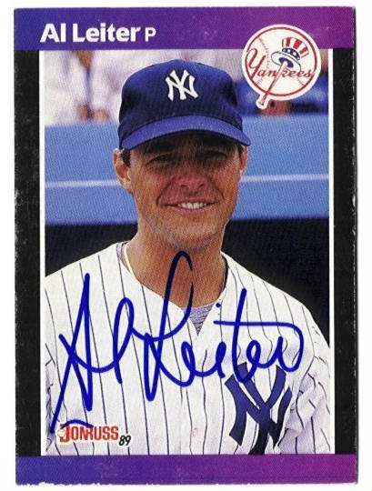 Al Leiter Authentic Autographed Card - Great Autograph