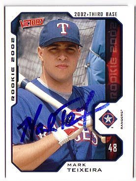 Mark Teixeira Authentic Autographed Card - Great Autograph