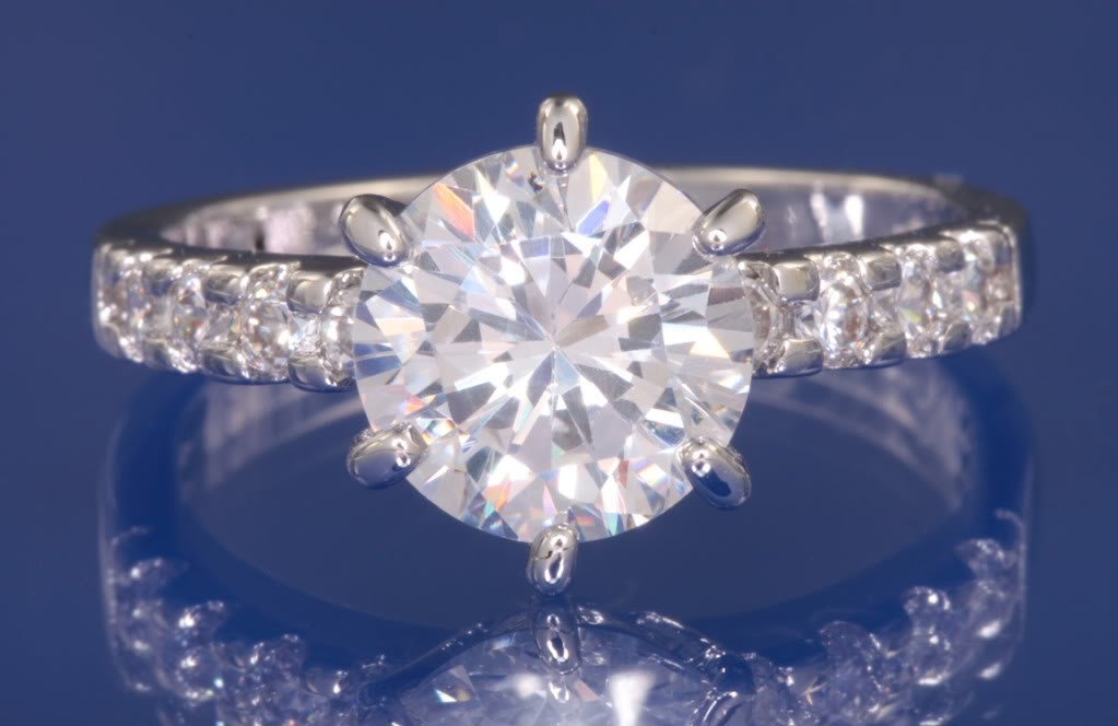 2.25ctw Russian Diamond Engagement Ring Size I1/2 or K1/2
