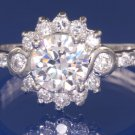 1.5ctw REAL RUSSIAN DIAMOND ENGAGEMENT RING size M