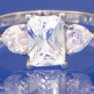 1.5ctw RUSSIAN DIAMOND ENGAGEMENT RING size M or O
