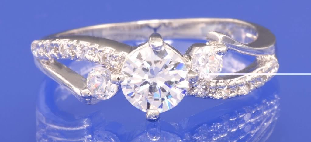0.80ctw RUSSIAN DIAMOND ENGAGEMENT RING size I 1/2, K1/2 or M