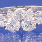 1.95ctw RUSSIAN DIAMOND ENGAGEMENT RING size P
