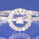 0.30ctw RUSSIAN CZ ENGAGEMENT RING size O