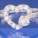 0.25ctw RUSSIAN DIAMOND ENGAGEMENT RING Size I, I1/2, M, L, or O